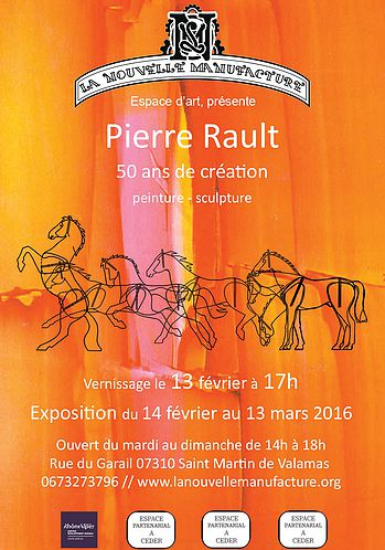 affiche expo Pierre Rault N.M.